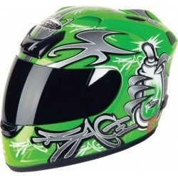 "Nitro N250 Vert ""Graffiti"" Moteur Casque De Cycle XX GRAND 63-64cm"
