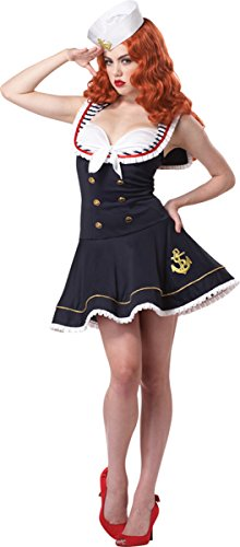 Morris Costumes Nautical Doll Women Xlg 12-14