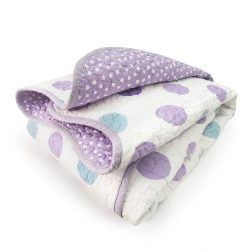 CoCaLo Mix & Match Violet Coverlet, Jumbo Dot/Dottie - 1
