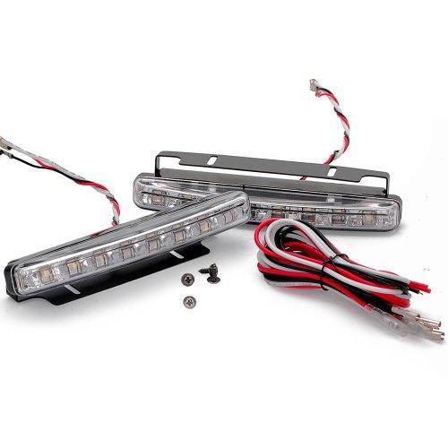 2X 8 Led Xenon White 8W Daytime Running Drl Fog Driving Light Kit Universal For Auto Car Truck Suv Van