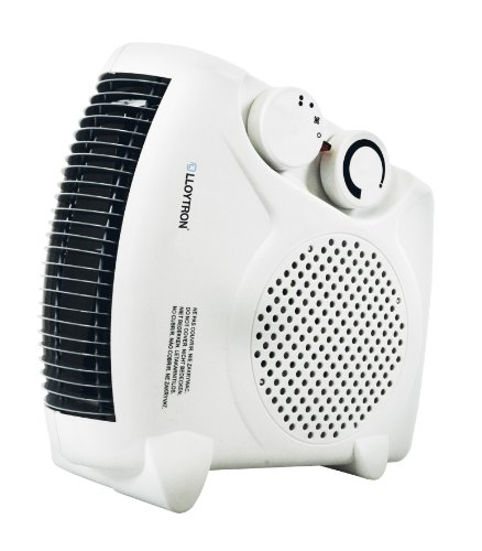 Lloytron 2000w Fan Heater with 2 Heat Settings & Cool Blow F2003WH