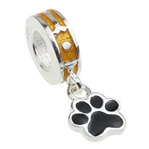 Puppy Dog Paw .925 Sterling Silver Charm