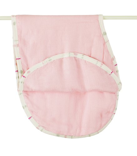 Aden + Anais Tranquility Solid Rose Bamboo Burpy Bibs front-359970