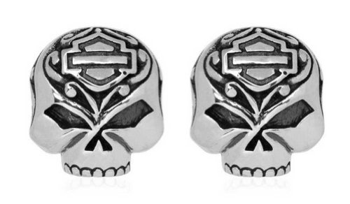Harley-Davidson Women's Mini Filigree Skull Post Earrings HDE0314