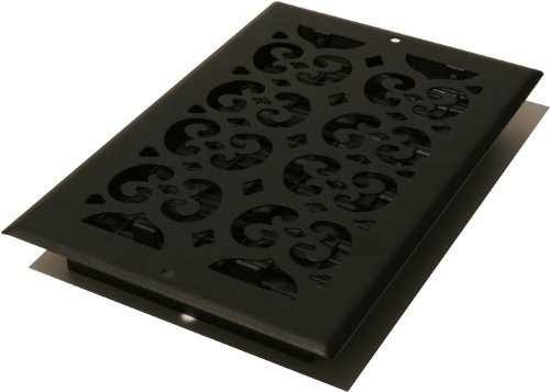 Decor Grates ST612W 6-Inch by 12-Inch Painted Wall Register, Black Textured (Decor Grates Floor Register 6x12 compare prices)