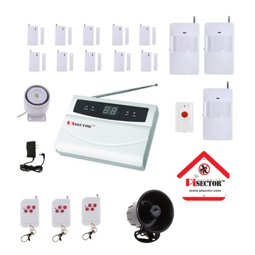 PiSector Wireless Home Security Alarm System Kit with Auto Dial S02-MX15