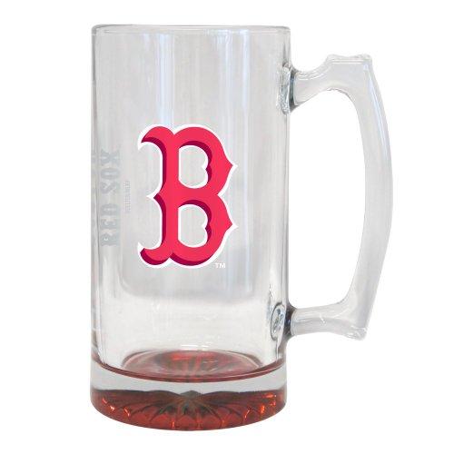 Boston Red Sox 25Oz. Glass Tankard | Mlb Red Sox Big Beer Mug