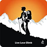 "Chipka Ke Bol Climbing Design Fridge Magnet [PVC Based,2.75"" x 2.75"",Orange Colour,1 piece]"