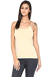 Ajile by Pantaloons Women's Round Neck Camisole (205000005659723, Beige, X-Large)