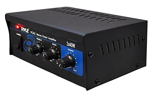 Pyle Home PCA2 2X40-Watt Stereo Mini Power Amplifier