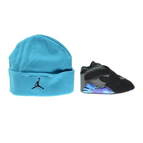 Jordan 8 Retro (GP) Infant Shoes Gift Pack Black/Tour Red-Dark Charcoal-Bright Concord 305362-025 (1 M US)