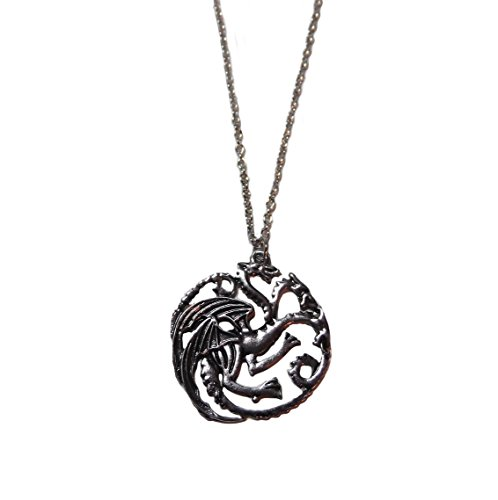 GAME OF THRONES DRAGON Pewter Finish Metal PENDANT with 20″ Chain