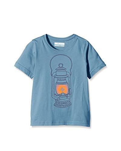 Columbia Camiseta Manga Corta Camp Light Graphic Azul