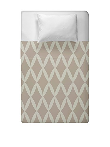 Details for Ebydesign Geometric Duvet Cover, Queen, Oatmeal Flax by Ebydesign
