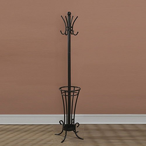 Traditional Umbrella Stand: Round Metal Wrought Iron Umbrella Holder Stand