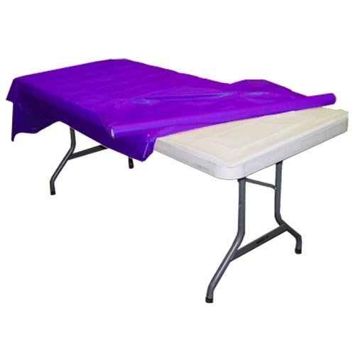 "Premium Quality Plastic Table Cover Banquet Rolls 40"" X 300' (Purple) by Exquisite"