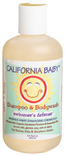 California Baby Shampoo & Body Wash - Swimmer's Defense, 8.5 oz (Pack of 3) - 1