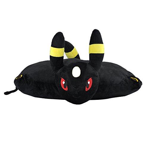 Katara 1750Pokémon Go puscheliges-Cuscino peluche/peluche ratina con come regalo idea mystisches nachtara, XXL, 40cm, colore: nero