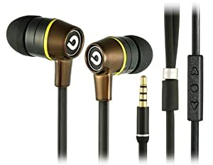 Bidenuo G360 20-20 KHZ In-ear Wired Earphones with Microphone Black