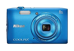 Nikon COOLPIX S3600 20.1 MP Digital Camera with 8x Zoom NIKKOR Lens and 720p HD Video (Blue) (Discontinued by Manufacturer)