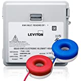 Leviton MO240-2SW Outdoor Surface Mount Mechanical Counter 120/208/240V 2P3W 200A with 2 Solid Core CTs Mini Meter Kit