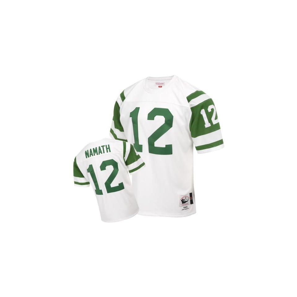 c991eb2bee4 Mitchell & Ness New York Jets 1968 Joe Namath Authentic Throwback White  Jersey Size 48