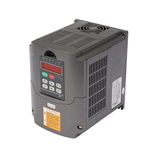 Discover Bargain VEVOR VFD 2.2KW 220V 3HP 7A Variable Frequency Drive Inverter AVR Technique VFD Dri...