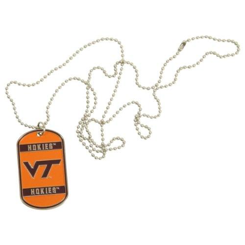 "Ncaa Metal Chain And Dog Tag / Necklace 34"" - Virginia Tech Hokies"
