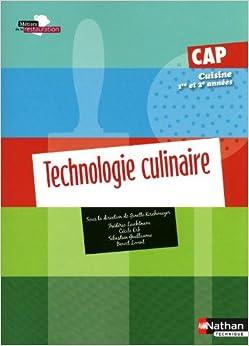 technologie culinaire cap cuisine 1e et 2e ann es french