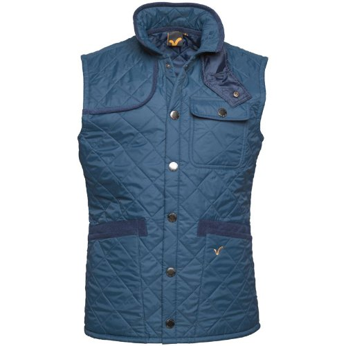 Voi Jeans Mens Pacemaker Quilted Gilet Blue