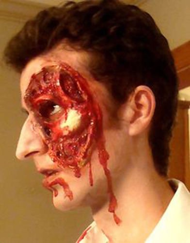 Zombie Costume FLESH N BONE FX Prosthetic Zombie Costume Halloween Walking Dead (Horror Flesh Grey Makeup)