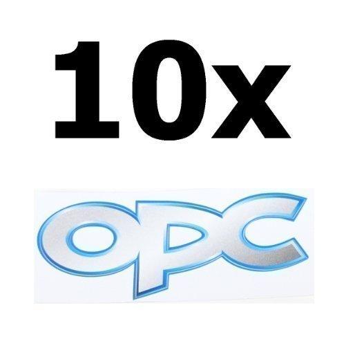 ORIGINAL Opel OPC Emblem Aufkleber 80x30 mm 10er Pack! Für Corsa Astra Vectra Insignia Zafira A B C D F G H J GTC OPC