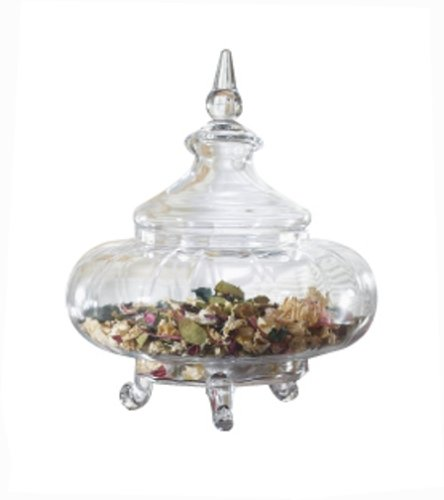 buy cheap decorative glass jar apothecary style with wide ribbed body and 3 scroll legs from cbk home buy apothecary jars - Decorative Glass Jars