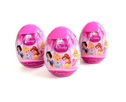 3 Disney Princess Surprise Eggs  Toy, Sticker,