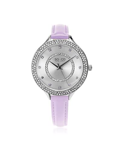 SO&CO Women's 5241.3 Studio Purple Leather Watch