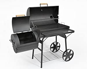 PROFI XXL 90kg-Smoker BBQ GRILLWAGEN Holzkohle Grill Grillkamin 3,5 mm Stahl PROFI-QUALITÄT von Anbieter KIUG