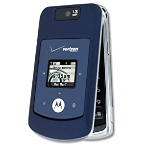 Motorola W755 Cell Phone for Verizon (Blue) Camera - MP3 - No Contract