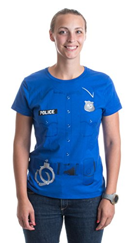 Police Costume Tee | Easy Halloween Costume Cop, Police Officer Ladies' T-shirt