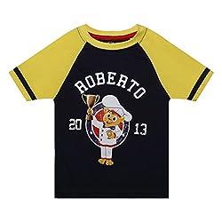 Boys round neck Roberto printed tshirt