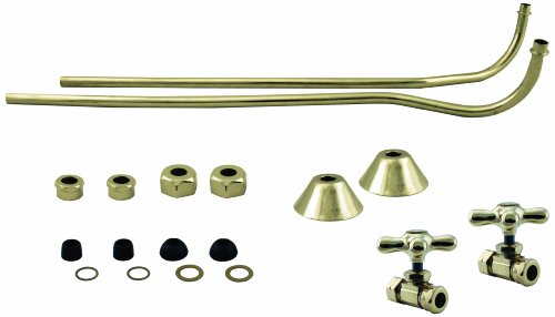 Review Westbrass Brass Double Offset Bath Supply Lines with 1/2 in. IPS Cross Valves