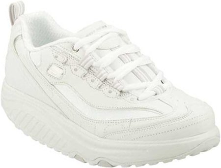 Skechers Women`s Shape Ups Metabolize Fitness Work Out Sneaker,White/Silver,8.5 M US