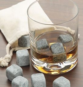 Templeton Whiskey Stones - Boxed Set of 9 Carefully Handcrafted 100% Soapstone Chilling Rocks With FREE Travel Pouch Included.