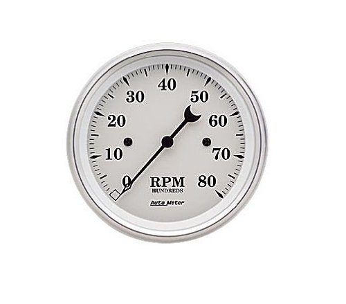Auto Meter 1690 Old Tyme White Electric Tachometer