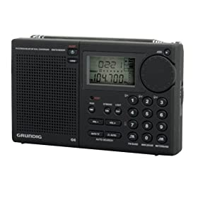 Grundig G6 Aviator AM/FM, aircraft band and Shortwave Radio, Black