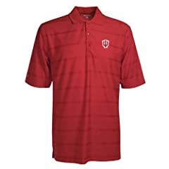 Indiana Hoosiers Polo - NCAA Antigua Mens Tone Dark Red by Antigua