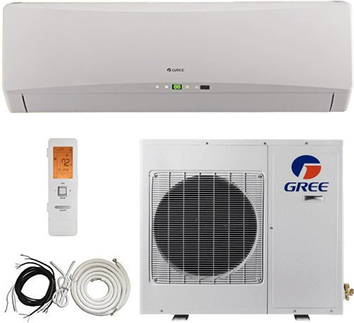 Gree 21 Seer Energy Star 2 Ton Ductless Mini Split Air Conditioner System, Heat Pump, 24000 Btu, Inverter, Cooling, Heating, Dehumidification. Includes 25 Foot Installation Kit. 220~240 VAC (21 Seer Air Conditioner compare prices)
