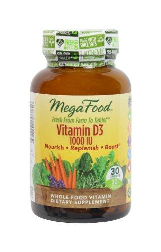 Megafood Vitamin D-3 1000 Iu Tablets, 30 Count