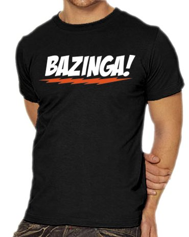 Touchlines Herren T-Shirt The Big Bang Theory - Bazinga Logo, black, XXXL, B1797-Black-XXXL