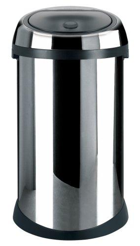Brabantia Touch Bin 50 Litre and Pedal Bin 3 Litre Set, Brilliant Steel