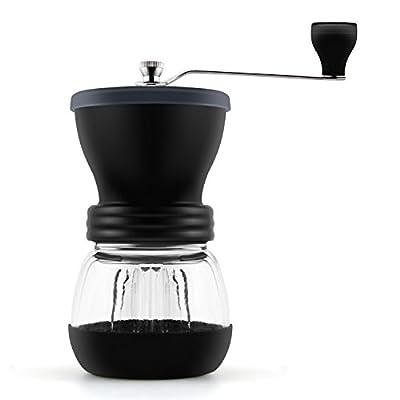 DECEN Manual Coffee Grinder Premium Ceramic Burr Hand Crank Grinder with Large Coffee Mill for Espresso Bean